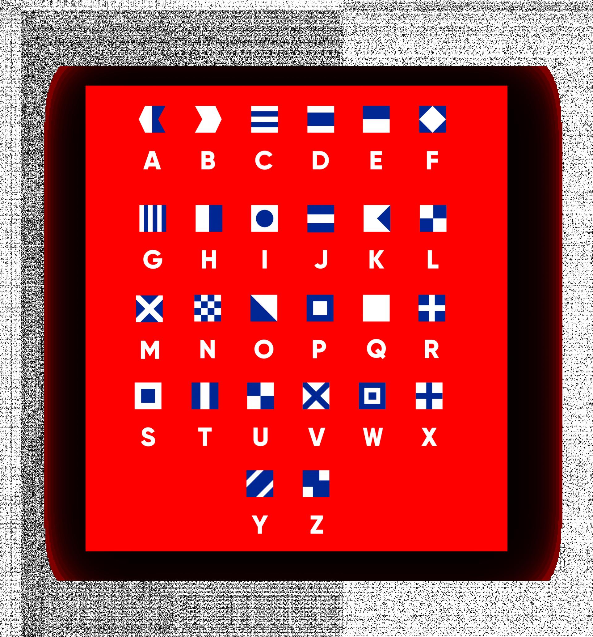 Signalflaggen-Alphabet für Signals of Hope