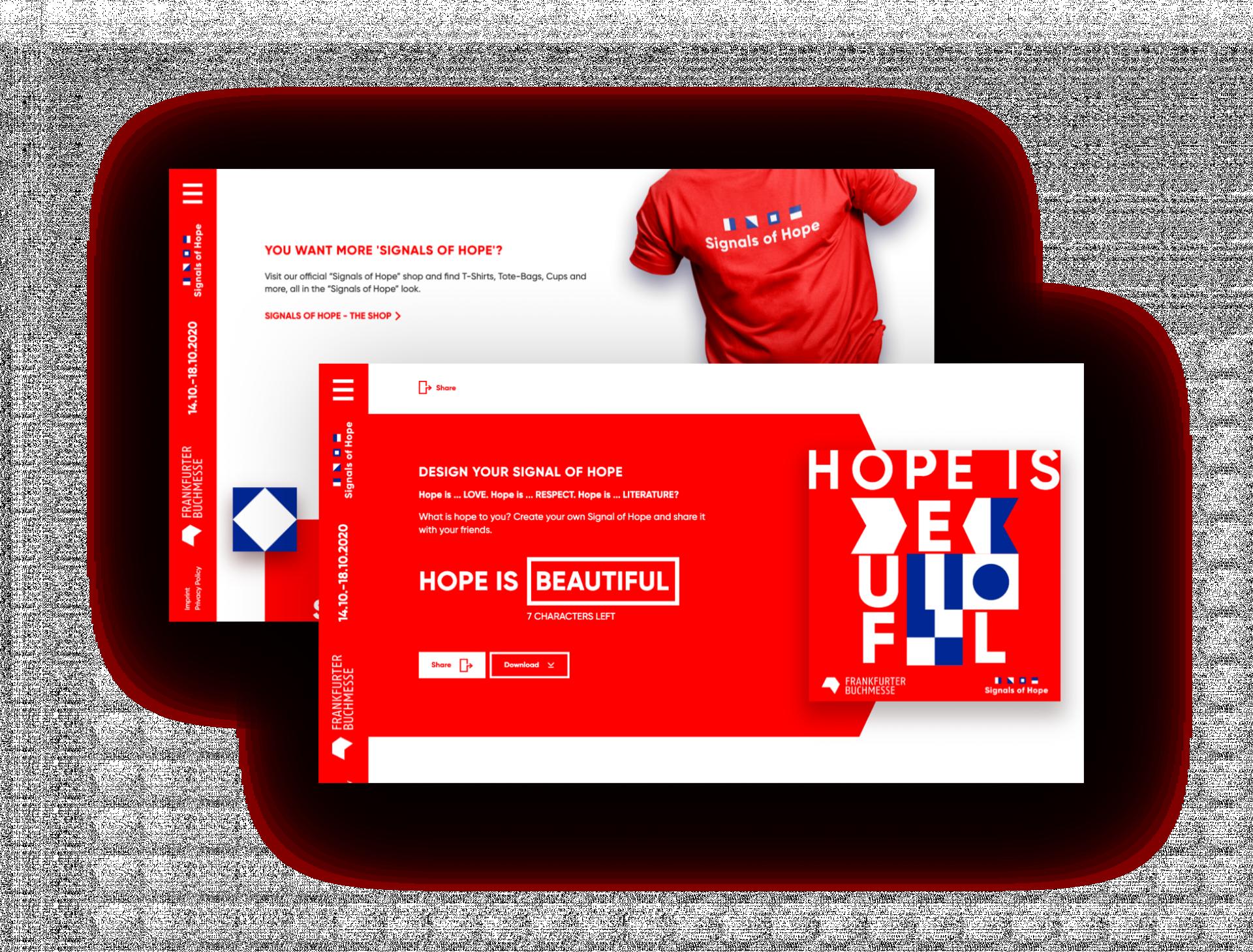 Signals of Hope-Generator, Logo auf T-Shirt