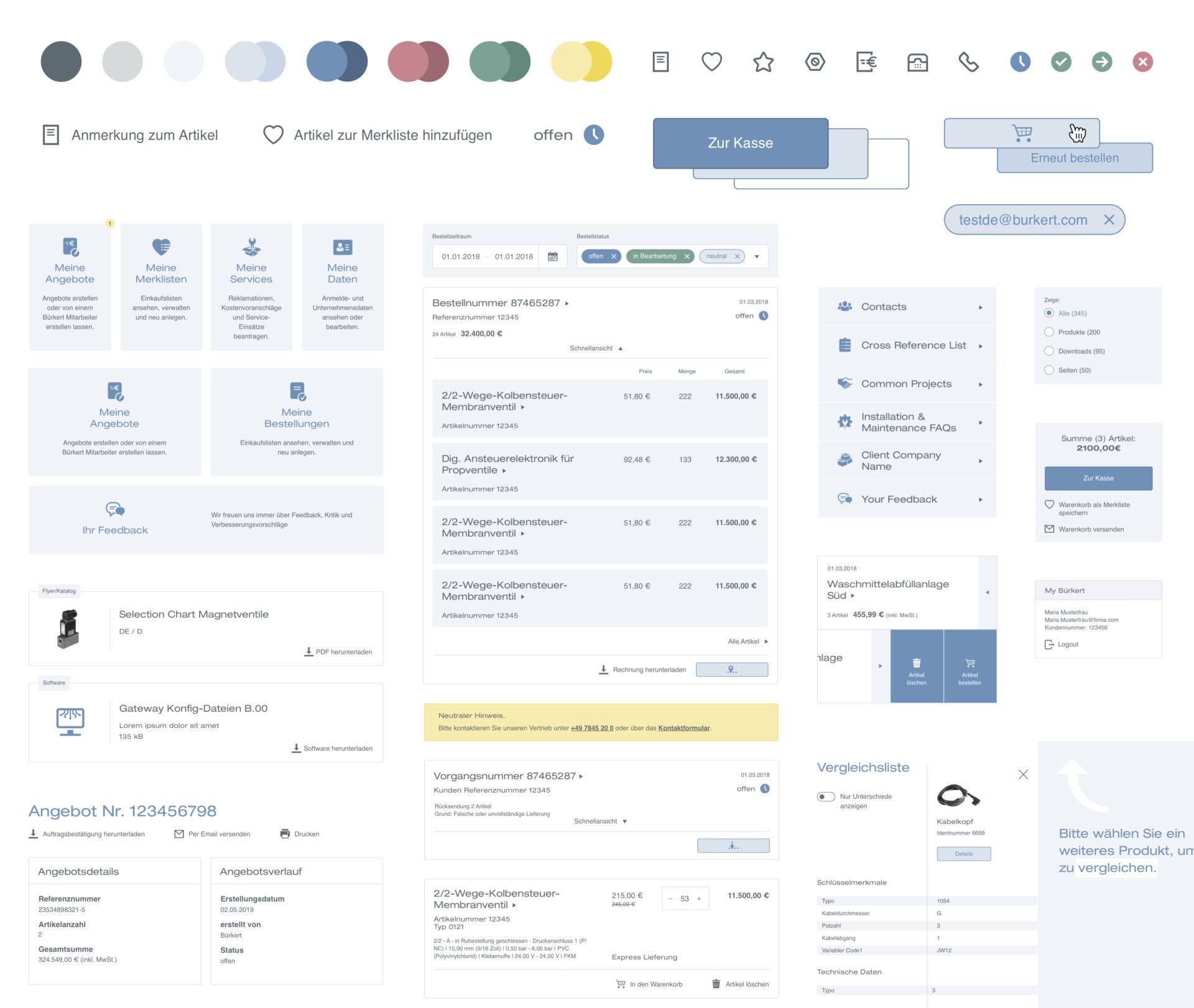 Designsystembeispiel einer Library
