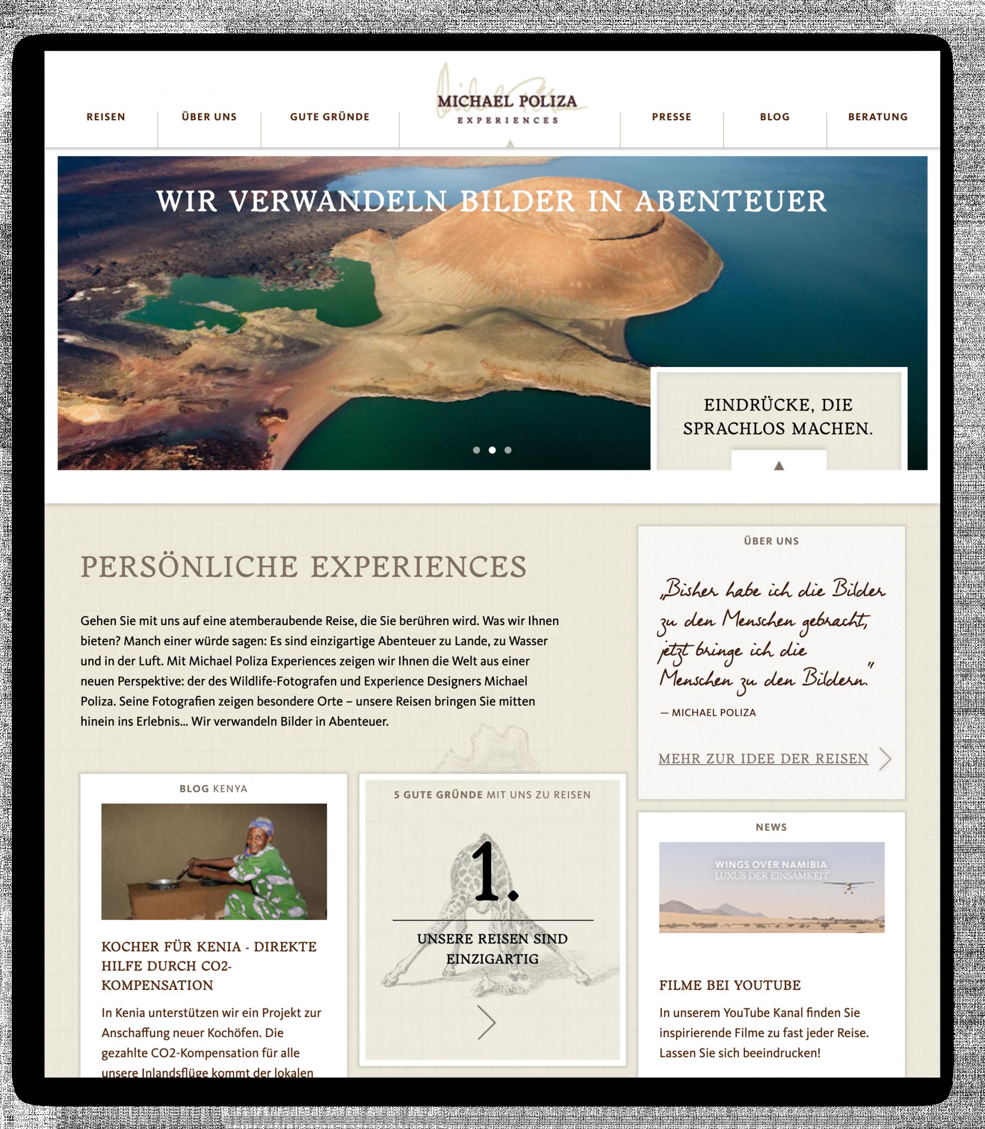 Startseite Michael Poliza Experiences